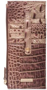 Brahmin Ombre Melbourne Embossed Leather Credit Card Wallet