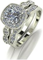 Moissanite 9CT GOLD 1.75ct Eq Total Cushion Cut Centre RING SET