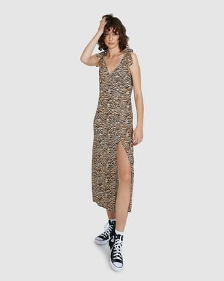 Don't Ask Amanda Aspen Tie Midi Spilt Dress