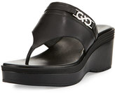 Cole Haan Lindy Grand Thong II Wedge Sandal, Black