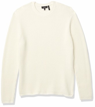 Theory mens Cotton Textured Sweater Phanos Crew Pullover Sweater