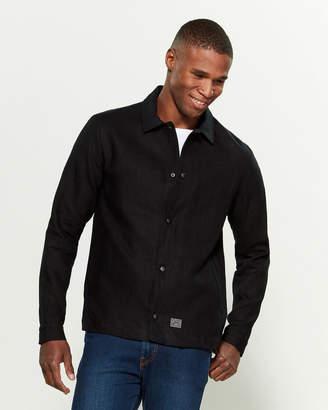 Brixton Textile Pocketed Linen Jacket