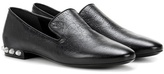 Balenciaga Embellished Leather Loafers