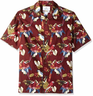 28 Palms Relaxed-fit 100% Cotton Tropical Hawaiian Shirt Button