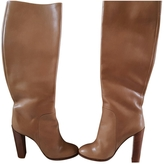 Celine Walnut/chestnut calfskin boots.