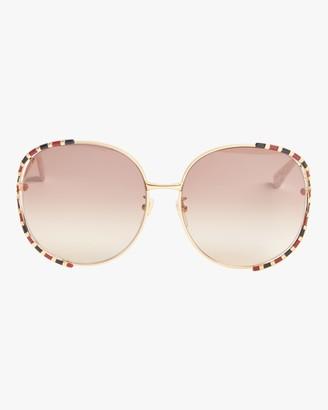 Gucci Cutout-Temple Round Sunglasses
