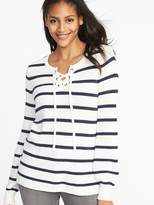 Lace-Up Sweater for Women