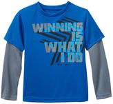 """Champion Boys 4-7 Mock-Layer """"Winning Is What I Do"""" Performance Graphic Tee"""