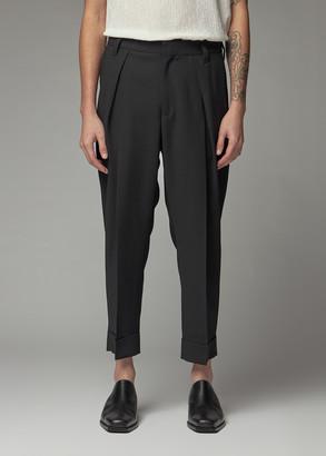 Ann Demeulemeester Men's Pleated Trouser Pants in Waldo Black Size Large 100% Wool