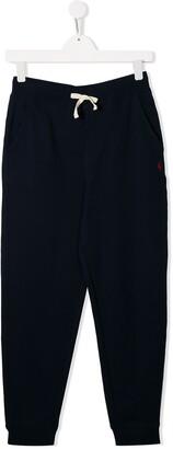 Ralph Lauren Kids TEEN embroidered logo track trousers