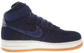 Nike Force 1 Hi Se Denim Nwb Suede & Leather Sneaker