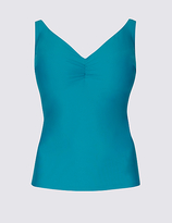 M&S Collection Non-Padded Plunge Tankini Top DD-G