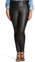 City Chic Plus Size Women's Wet Look Moto Stretch Skinny Jeans