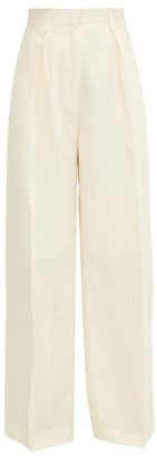 Jacquemus Carini Canvas Wide Leg Trousers - Womens - Ivory