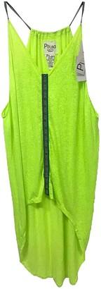 Pitusa Yellow Cotton Dresses