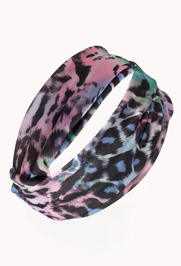 Forever 21 Multi-Color Leopard Headwrap