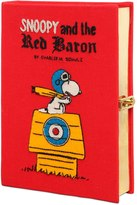 Olympia Le-Tan Snoopy Red Baron Embroidered Book Clutch