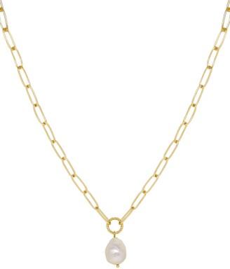 Ettika Freshwater Pearl Pendant Necklace