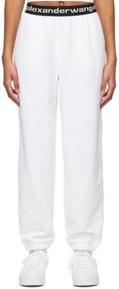alexanderwang.t White Stretch Corduroy Lounge Pants