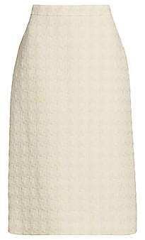 Gucci Women's Tweed Wool-Blend Pencil Midi Skirt