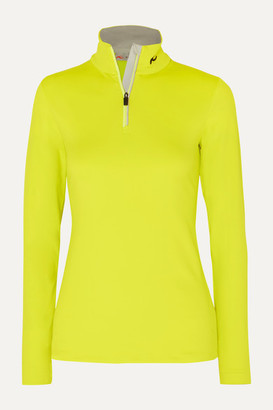Kjus Feel Neon Stretch-jersey Turtleneck Top - Bright yellow