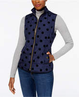 Charter Club Flocked Vest, Created for Macy's