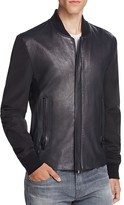 J Brand Sabik Leather Nylon Jacket