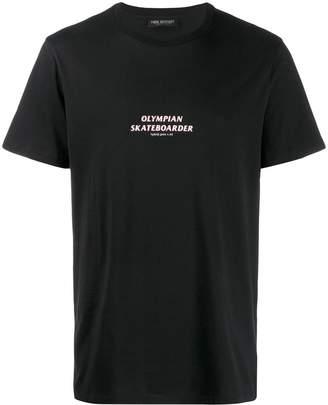 Neil Barrett slogan print T-shirt