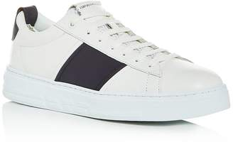 Giorgio Armani Men's Leather Low-Top Sneakers