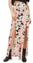 Topshop Women's Sugar Flower Double Slit Maxi Skirt