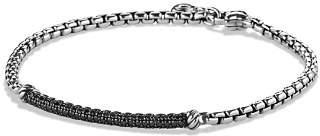 David Yurman Petite Pavé Bar Metro Bracelet with Black Diamonds