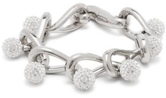 Loewe Drop Crystal-embellished Chain Bracelet - Crystal