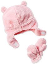 Carter's 2-Pc. Fleece Hat and Mittens Set, Baby Girls (0-24 months)