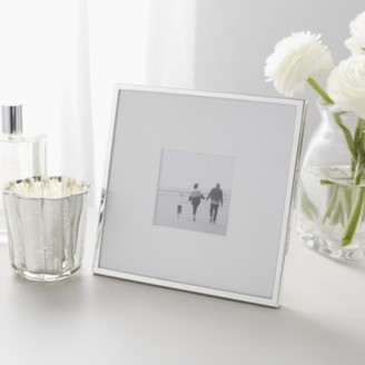 "The White Company Fine Silver Photo Frame 3x3"", Silver, One Size"