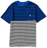 Ralph Lauren Little Boys 2T-7 Nautical Striped Pocketed Short-Sleeve Color Block Slub Jersey Tee