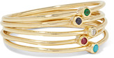 Jennifer Meyer Set Of Five 18-karat Gold Multi-stone Rings - 7
