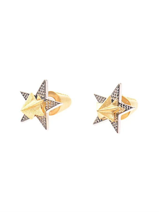 Eddie Borgo 2 Piece star stud gold-plated earrings