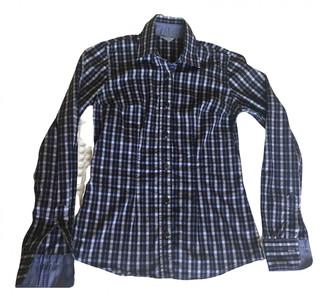 Barba Blue Cotton Top for Women