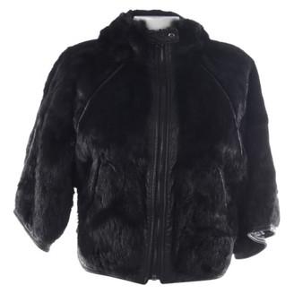 CNC Costume National Black Fur Jacket for Women