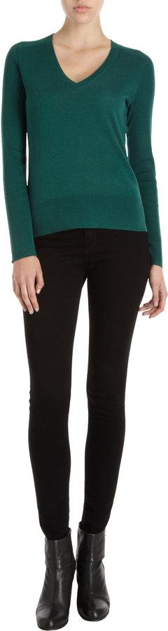 Barneys New York CO-OP Rib Sleeve Sweater