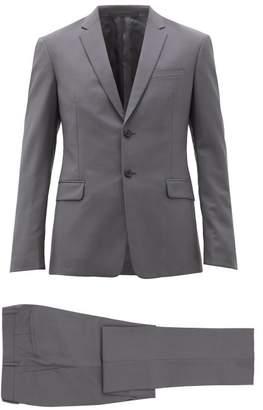 Prada Single-breasted Wool-blend Suit - Mens - Grey
