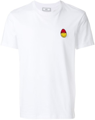 Ami Paris Crewneck T-Shirt Smiley Patch