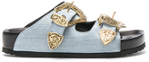 Fausto Puglisi Denim Sandals