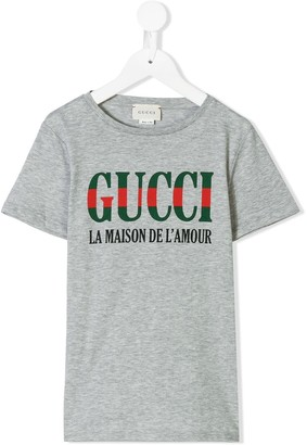 Gucci Kids Gucci print T-shirt