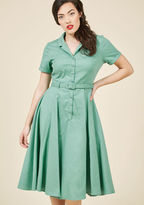 Collectif Cherished Era Shirt Dress in Pistachio in S