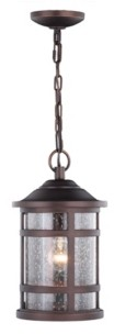 Vaxcel Southport Rust Proof Outdoor Pendant Light with Clear Glass