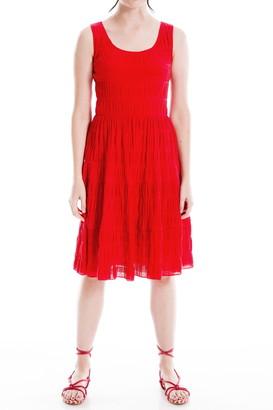 Max Studio Textured Sleeveless A-Line Dress