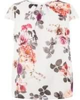 Dorothy Perkins Womens **Billie & Blossom Curve Grey Floral Shell Top- Grey