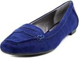Adrienne Vittadini Blaker Women Apron Toe Suede Blue Loafer.