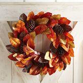 "Pier 1 Imports Faux Magnolia Leaves 22"" Wreath"